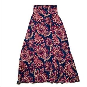 LuLaRoe maxi skirt long a line stretch size medium